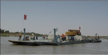 Lake Reusable Ferry Barge Emergency With Simple Structure , Shallow Water